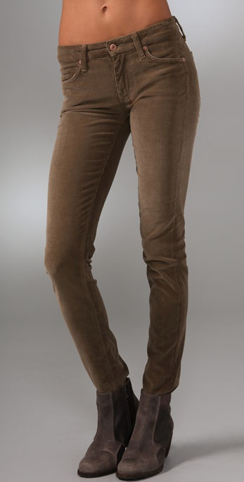Vince Denim Skinny Corduroy Pants