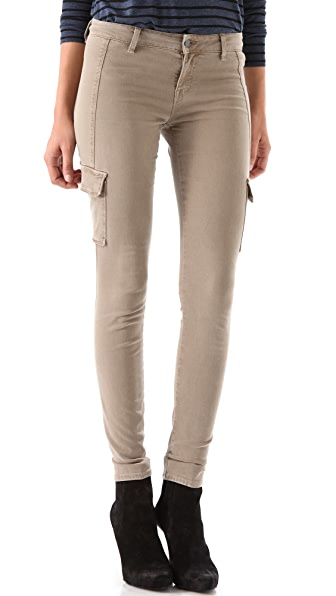 Vince Denim Cargo Pocket Skinny Pants