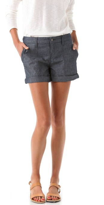 Vince Denim Cargo Shorts