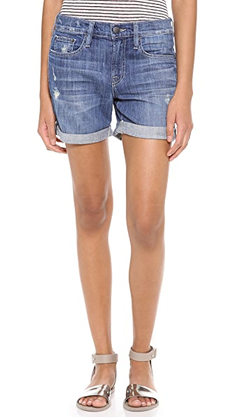 Vince Denim Mason Relaxed Rolled Shorts