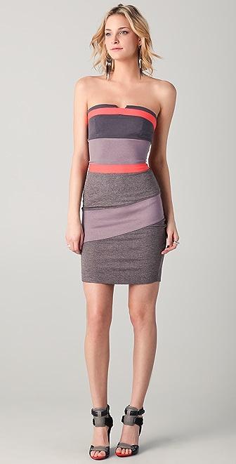 VPL Placental Strapless Dress
