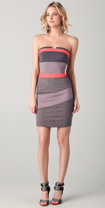VPL Placental Strapless Dress