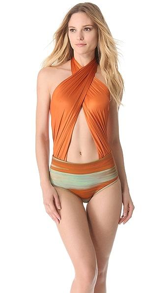 VPL Print Neo Harness One Piece Swimsuit