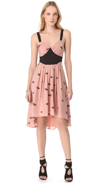 Viva Vena! by Vena Cava Pleated Print Dress
