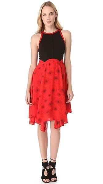 Viva Vena! by Vena Cava Asymmetrical Button Dress