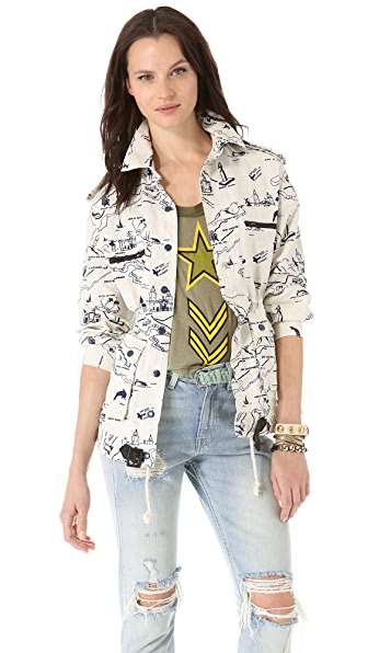 Viva Vena! by Vena Cava Belted Zip Pocket Jacket