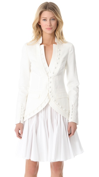 Vera Wang Collection Cut Away Jacket