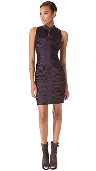 Vera Wang Collection Sleeveless Ruched Dress