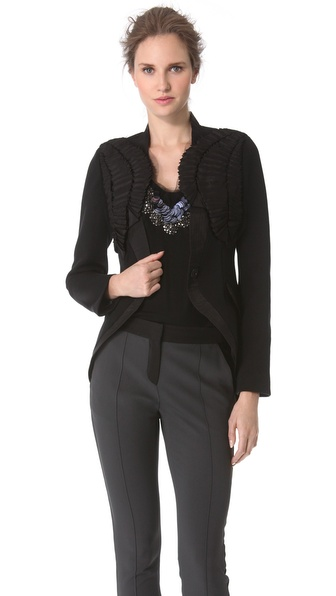 Vera Wang Collection Faille Harness Blazer