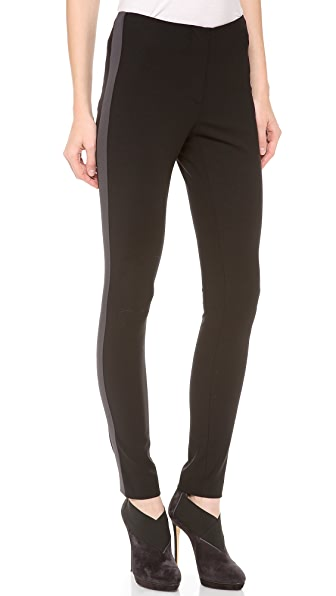 Vera Wang Collection Tuxedo Stripe Trousers