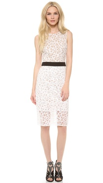 Vera Wang Collection Lace Sheath Dress