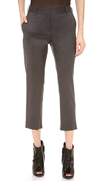 Vera Wang Collection Cropped Wool Pants