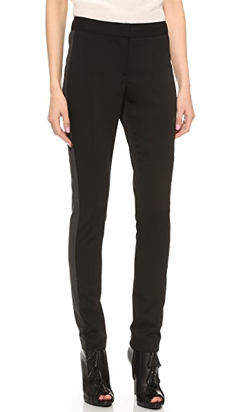 Vera Wang Collection Tuxedo Stripe Skinny Pants