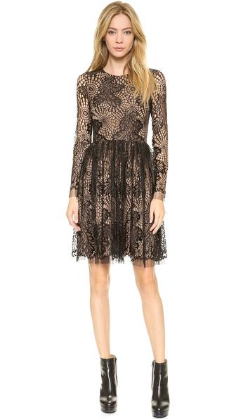 Vera Wang Collection Web Lace Dress