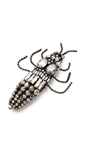 Vera Wang Collection Large Beetle Brooch