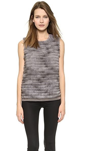 Collection Collection Mink Trim Gauze Shell (Grey)