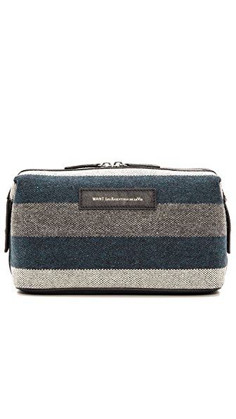 WANT Les Essentiels de la Vie Blanket Stripe Travel Kit