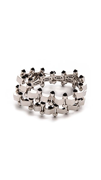 W. BRITT Mini Block Double Wrap Bracelet