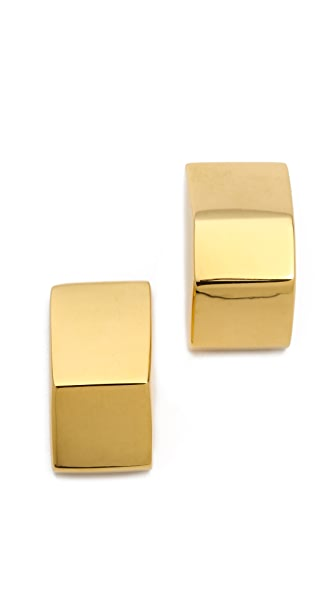 W. BRITT Big Block Stud Earrings