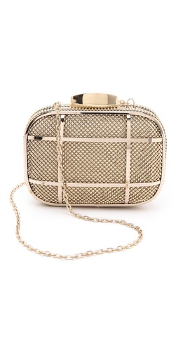 Whiting & Davis Cage Minaudiere Clutch at Shopbop / East Dane