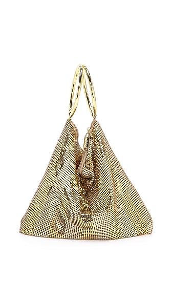 Whiting & Davis Matte Stripe Double Ring Bag