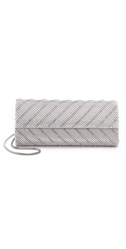 Whiting & Davis Chevron Flap Clutch at Shopbop / East Dane