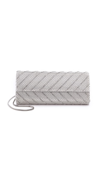 Whiting & Davis Chevron Flap Clutch