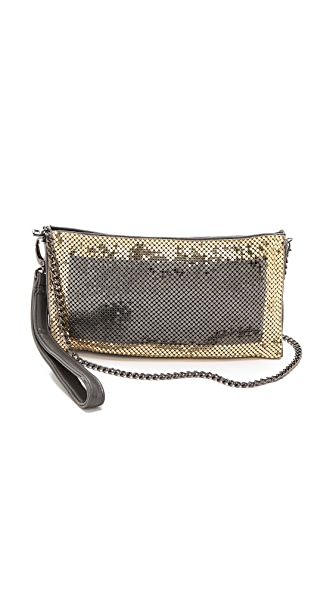 Whiting & Davis Contrast Edge Cross Body Bag