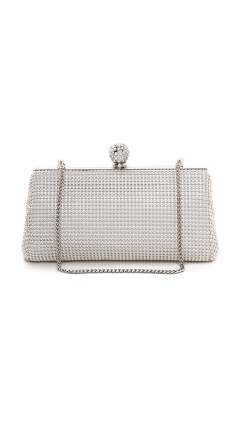 Whiting & Davis Crystal Dimple Clutch