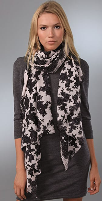 we are owls Chantilly Lace Scarf
