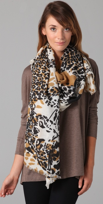 we are owls Marlow Leopards Scarf