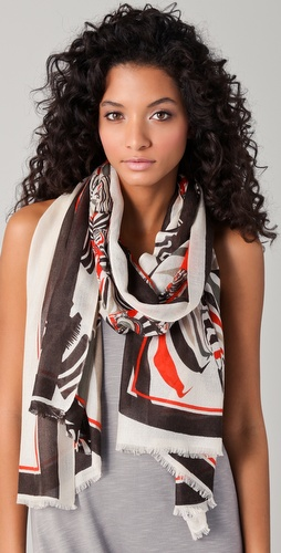 we are owls Zebras Cashmere Scarf