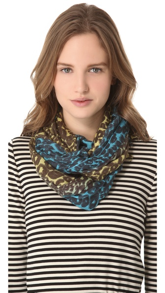 we are owls Leopard Ombre Scarf