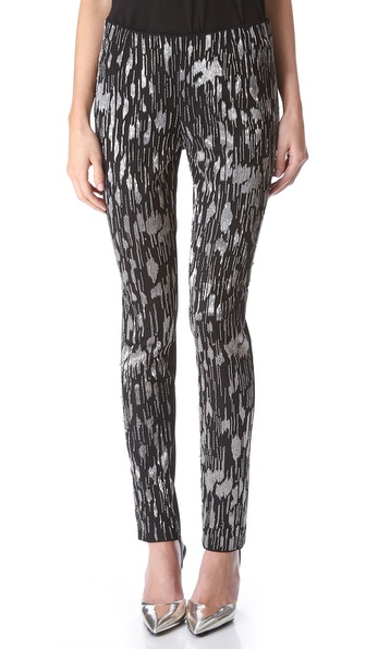 Wes Gordon Embroidered Tulle Cigarette Pants