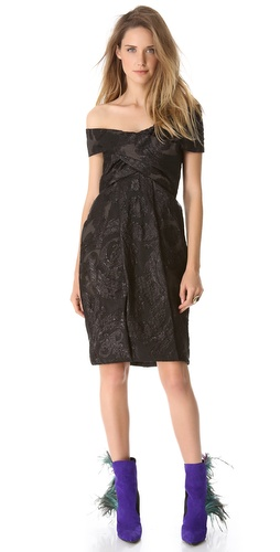 Wes Gordon Turban Empire Dress