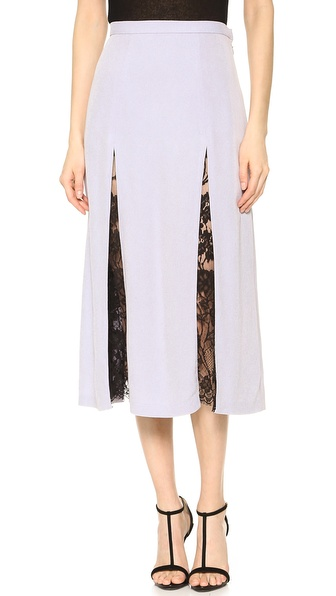 Wes Gordon Lace Godet Skirt