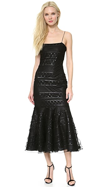 Wes Gordon Banded Lace Dress