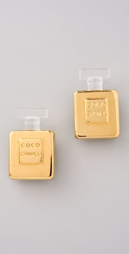 WGACA Vintage Vintage Chanel Perfume Bottle Earrings