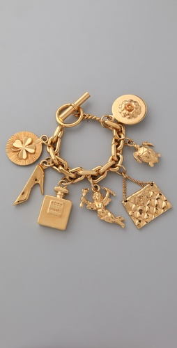 WGACA Vintage Vintage Chanel '80s Charm Bracelet