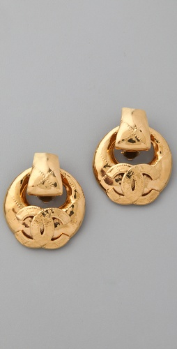 WGACA Vintage Vintage Chanel '80s Quilted Earrings