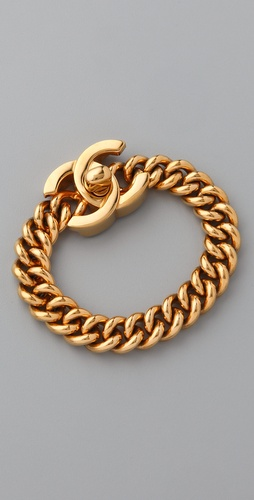 WGACA Vintage Vintage Chanel CC Bracelet