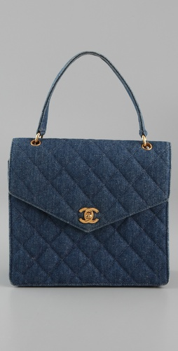 WGACA Vintage Vintage Chanel Quilted Denim Bag