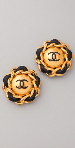 WGACA Vintage Vintage Chanel CC Earrings