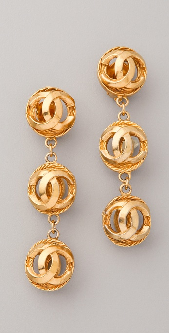 WGACA Vintage Vintage Chanel CC Ball Earrings