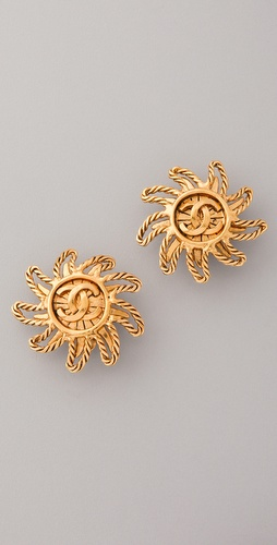 WGACA Vintage Vintage Chanel '94 CC Sun Clip Earrings
