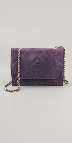 WGACA Vintage Vintage Chanel Quilted Suede Bag