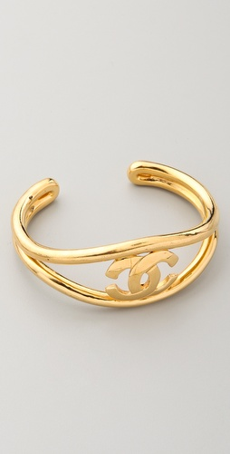 WGACA Vintage Vintage Chanel CC Cuff