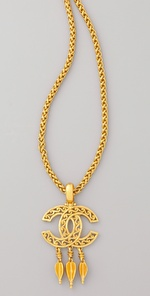 WGACA Vintage Vintage Chanel CC Arrow Necklace