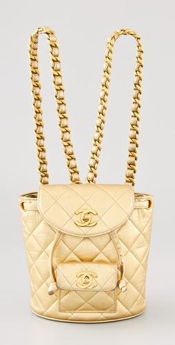WGACA Vintage Vintage Chanel Quilted Mini Backpack