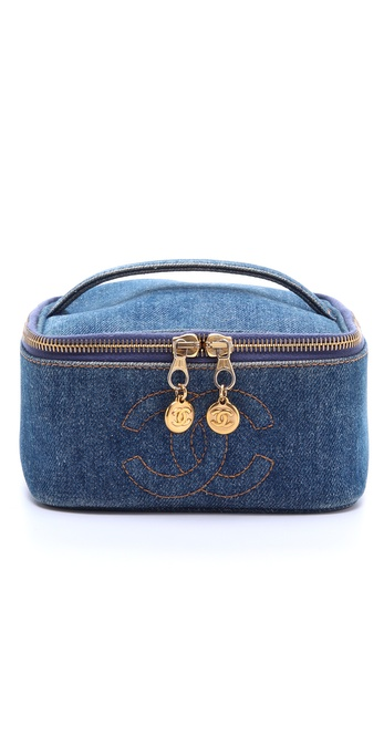 WGACA Vintage Vintage Chanel Denim Cosmetic Case